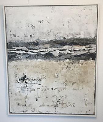 Spiekeroog, Acryl, Asphaltgraphit, Pigmente und Marmormehl auf Leinwand, 110 x 90 cm
