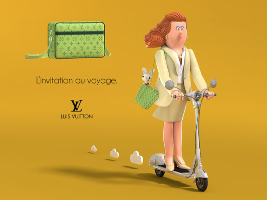 illustration 3d matt roussel luis vuitton