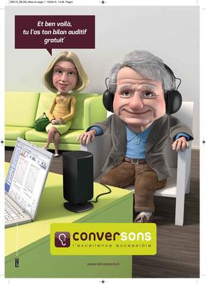 Illustration 3d pour l'agence Sigmund.Client Converson