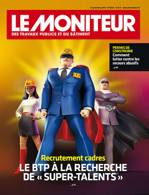 """Presse Illustration 3d pour le magazine """" Le moniteur"""""""