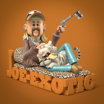 illustration 3d matt roussel tiger king