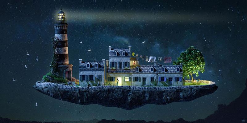 Peniche bretonne illustration 3d
