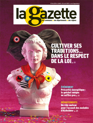 "Illustration 3d pour le magazine "" La gazette"""