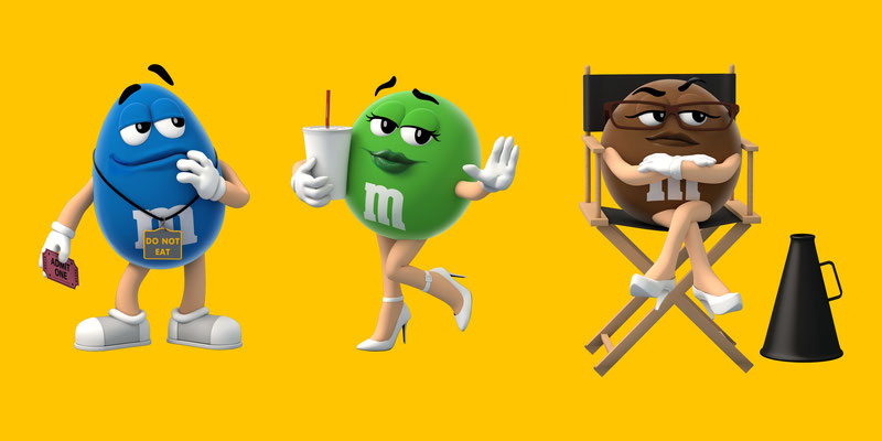 illustration 3d Agence BBDO Canada client M&m's