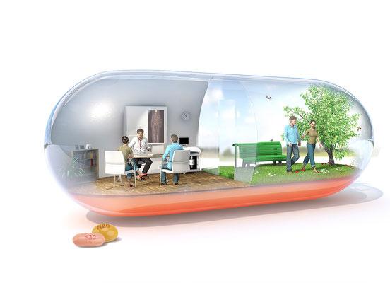 Illustration 3d pour l'agence OGILVY HEALTHWORLD client Sanofi