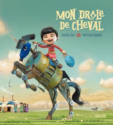 """illustration 3d pour le Livre """"Mon drole de cheval"""" edition sarbacane"""