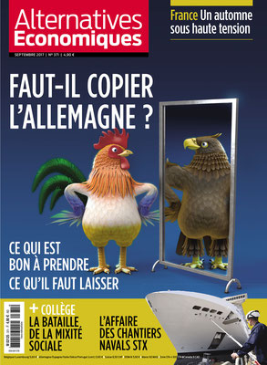 illustration 3d pour magazine presse alternative economique