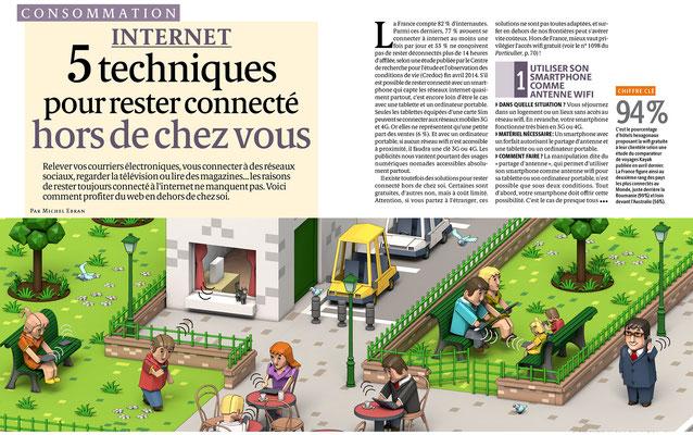 """Presse Illustration 3d pour le magazine """" Le particulier"""""""