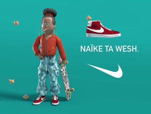 illustration 3d matt roussel nike