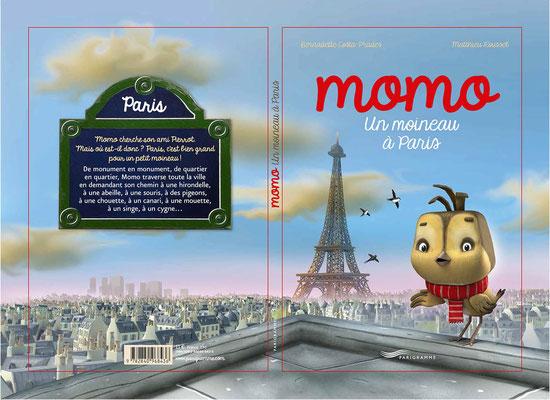 """illustration 3d pour le livre """"momo le moineau"""" edition Parigramme"""