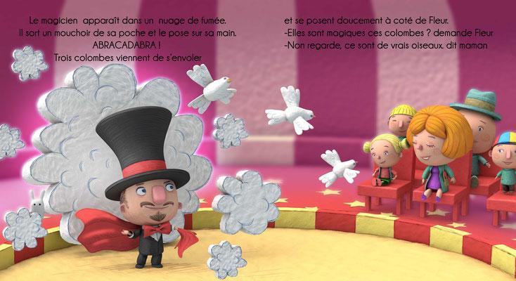 """illustration 3d pour le Livre """"le cirque Zapata"""" edition Averbode Belgique"""