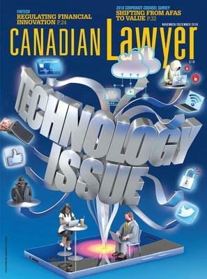 Presse illustration 3d pour l'agence Thomson Reuters.Client Canadian lawyer
