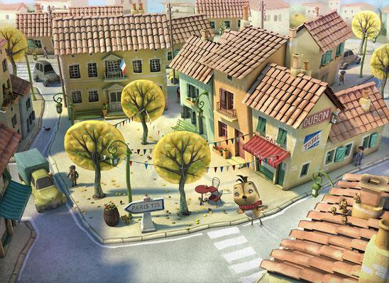 Illustration 3d momo le moineau edition parigramme