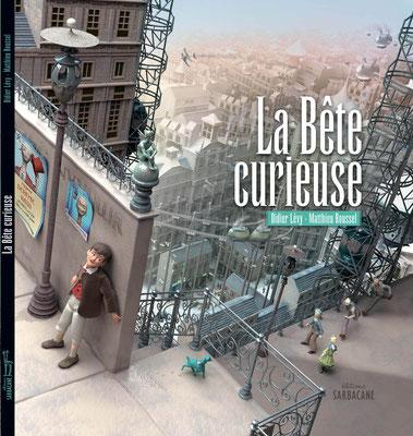 """illustration 3d pour le Livre """"la bête curieuse"""" edition sarbacane"""