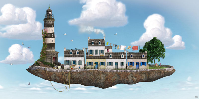 Peniche bretonne illustration 3d
