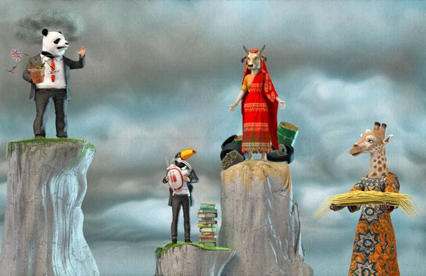 "Illustration 3d pour le magazine "" Okapi"""