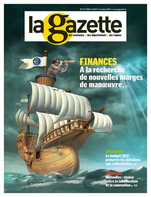 """Illustration 3d pour le magazine """" La gazette"""""""