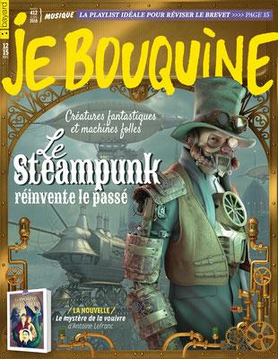 illustration 3d de couverture pour bayard presse steampunk