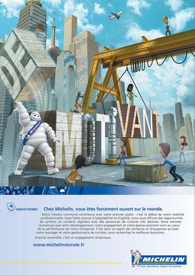 illustration 3d  Michelin