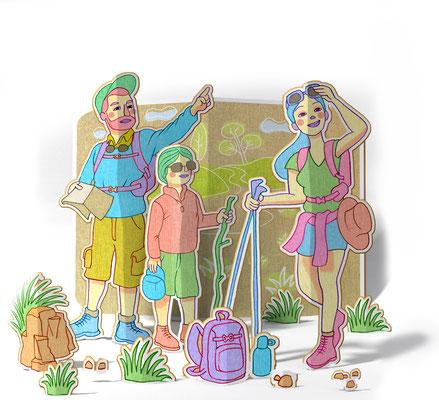 illustration 3d/2d pour le particulier Magazine