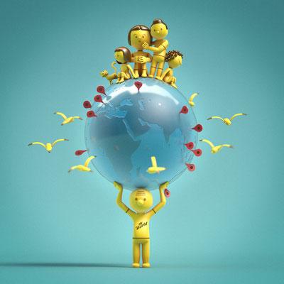 My world...illustration 3d
