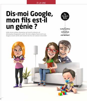"""Presse Illustration 3d pour le Magazine """"la recherche"""""""