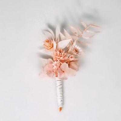boutonnière fleurs séchées
