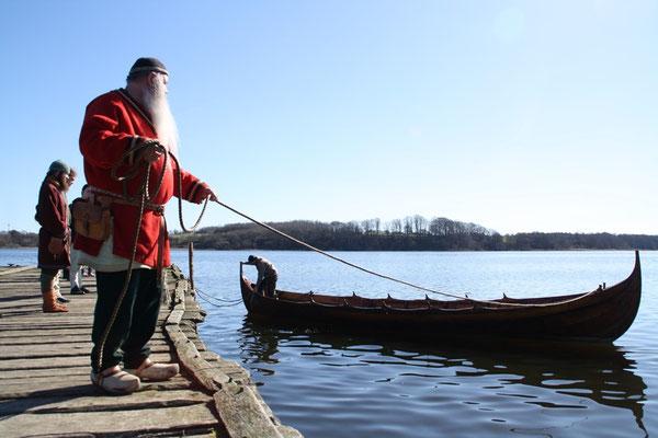 ... unser Bootsfan Ulfram ganz vorne mit dabei....
