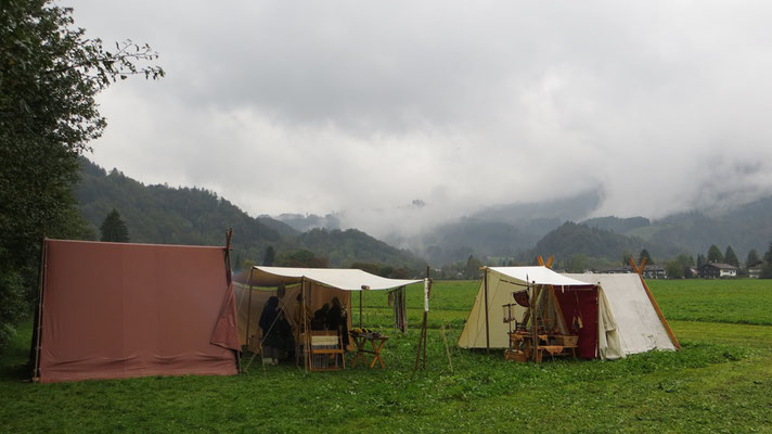 Unser Lager im verregneten Oberaudorf...