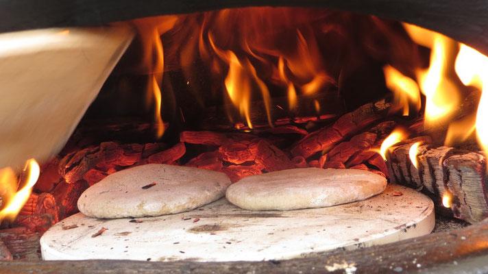 ...zu wunderbaren Fladenbroten gebacken wurden