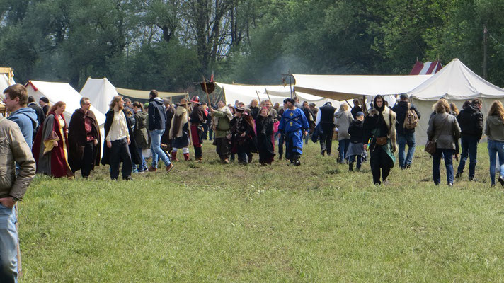 ...strömten die Massen und wir waren gut beschäftigt.