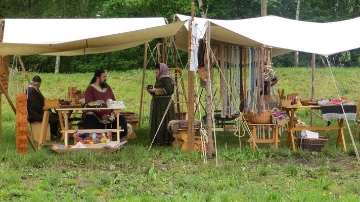 Das Lager steht und wir haben uns gemütlich eingerichtet.