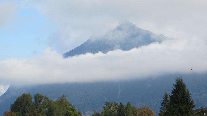 ...und bescherte uns einen tollen Bergblick.