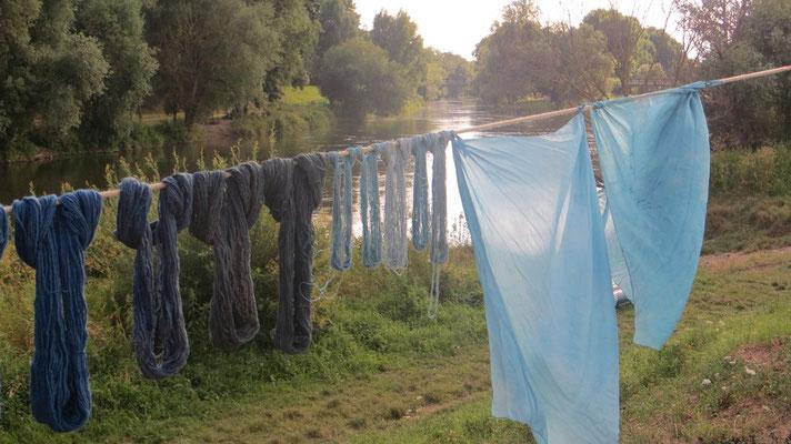 """Die """"schöne blaue Donau"""" sah gleich noch ein Stück blauer aus ;-)"""