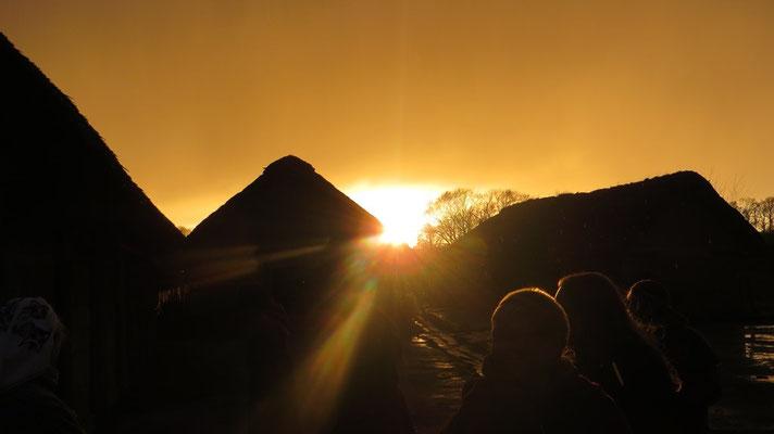 ...die Sonne tauchte alles....