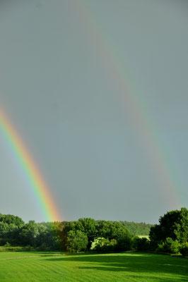 Regenbogen Richtung Süden