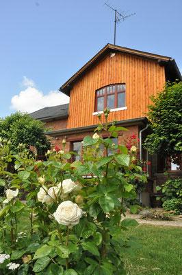 Rosen vor dem Altbau