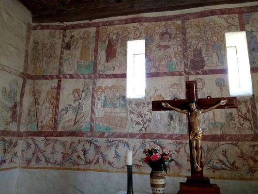 Wandmalereien Feldsteinkirche Dahrendorf, c Amanda Hasenfusz