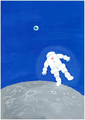 もしも、行きたいところへ行けるなら?私の答え「月へ行って地球を眺めてみたい」