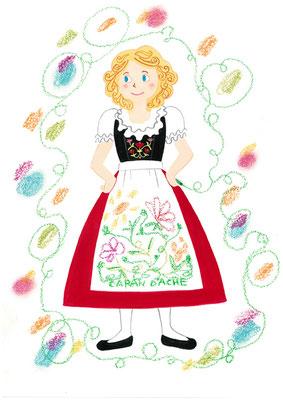 もしも、好きな画材が人だったら?私の答え「スイスのメーカー、カランダッシュのオイルパステル。綺麗な色となめらかさが好き」