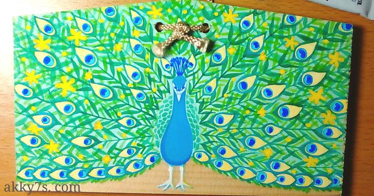 吉祥孔雀。代々木コンテナートにて展示作品。