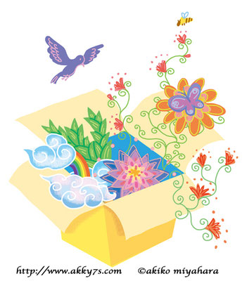 植物/箱の中の空想の花