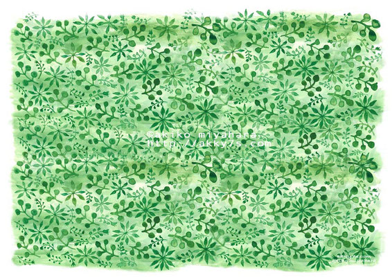 植物/グリーン1色
