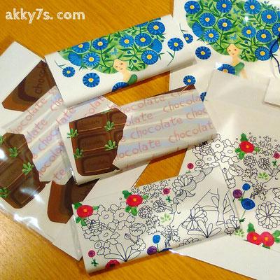 コンテナートにて、板チョコに巻くためのアートラッピングペーパー販売しました。