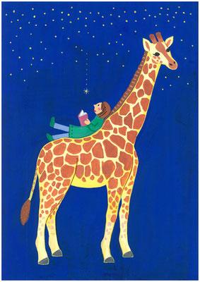 もしも、動物と友達になれるなら?私の答え「キリンの背中に乗って星の光で本を読みたい」