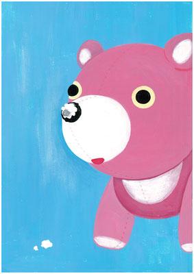 もしも、一番古い記憶を描くなら?私の答え「赤ちゃんの時にぬいぐるみの鼻をかじった」