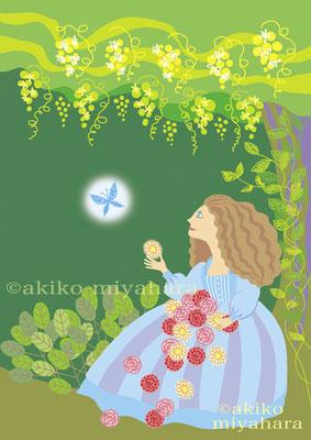 人物pc/蝶と花