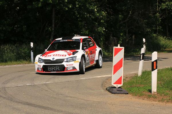 Dinkel / Kohl - Zweiter Platz AvD Sachsen-Rallye 2018 - Bild: S. Geisler