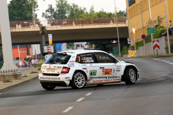 Sepp Wiegand - Dritter Platz AvD Sachsen-Rallye 2018 - Bild: S. Geisler
