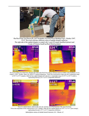 "EnviroCoatings ""Roof Prop"" with Infrared Pictures demonstrating Heat Load Reduction"